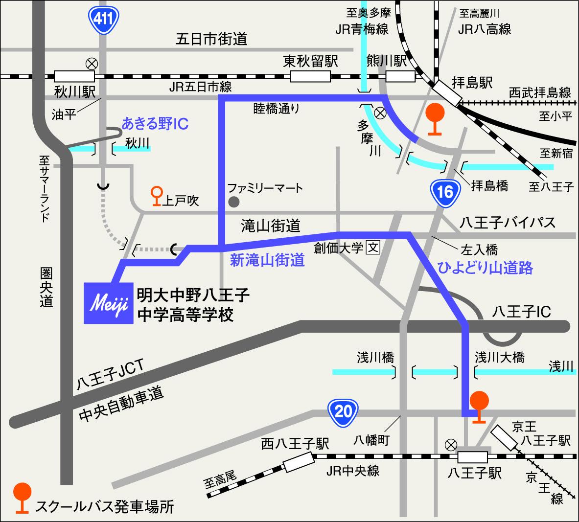 本校周辺MAP